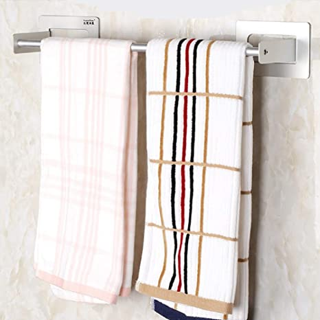 Amazon Com Conral Wall Mounted 3m Adhesive Bathroom Towel Rack Modern Toilet Decorative Towels Holder Organizer Hook For Storage Of Bath Towels Washcloths Hand Towels Home Kitchen