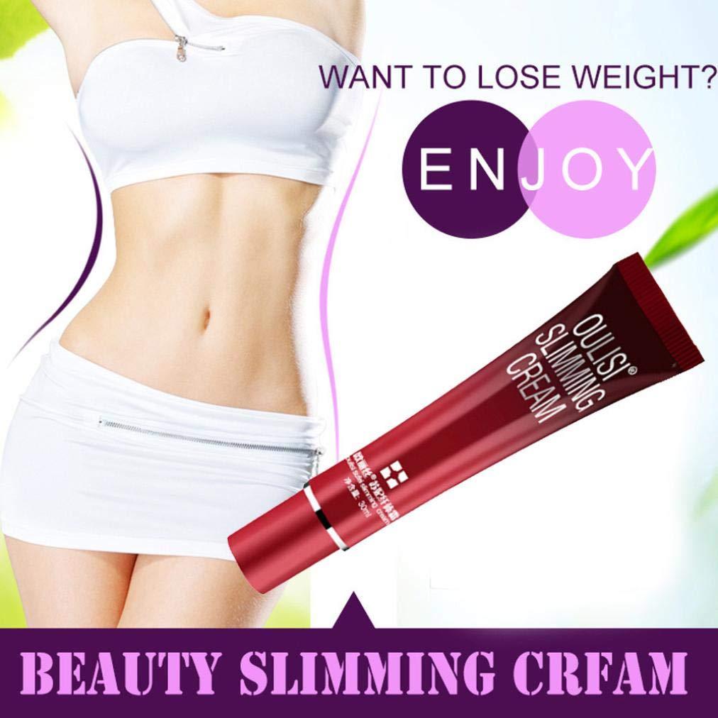 Iusun Body Slimming Cream, Body Slimming Gel Fat Burning Cream Losing Weight Massage Anti Cellulite Cream (Red)
