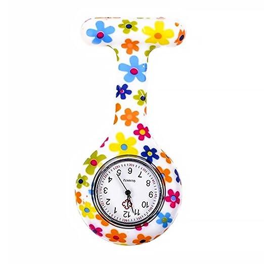 TrifyCore La túnica de Silicona médica cuida el Reloj con Pilas del diseño de la Correa del Reloj de Cuarzo a Prueba de Agua(Flores: Amazon.es: Relojes