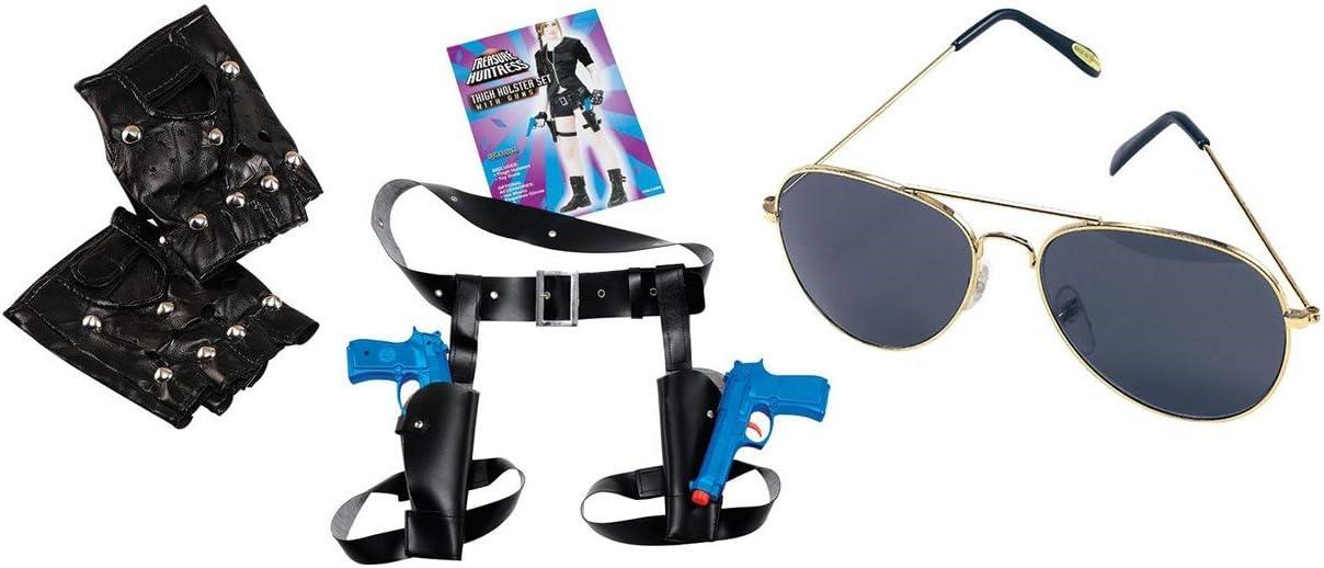 Lara Croft Tomb Raider Style fancy dress costume twin guns holster ...