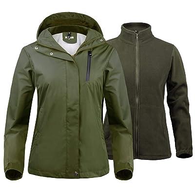 Abollria Women's 3-in-1 Ski Jacket Waterproof Windproof Warm Fleece Inner Winter Coat Parka: Clothing