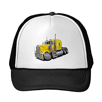 8d5beb55b05 Funny Kenworth W900 Yellow Truck Trucker Hat  Amazon.co.uk  Sports ...