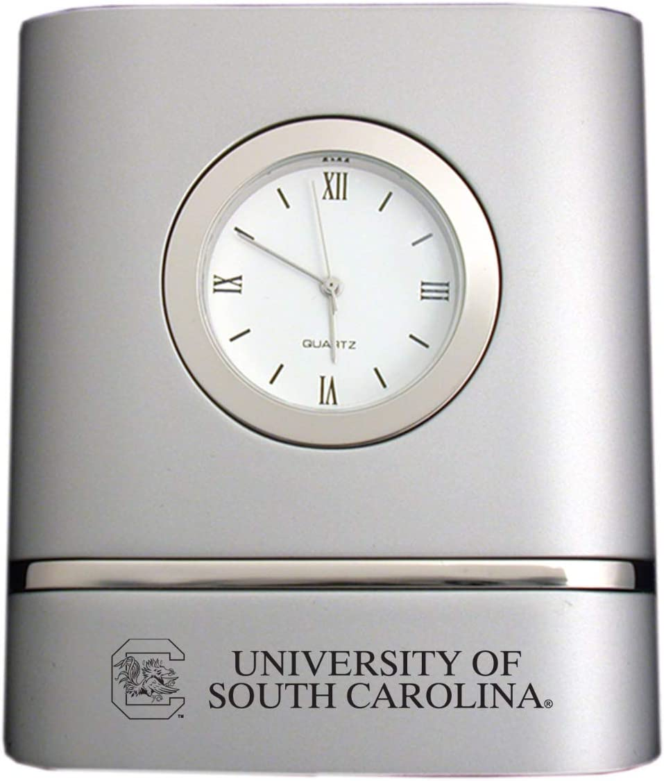 LXG, Inc. University of South Carolina- Two-Toned Desk Clock -Silver