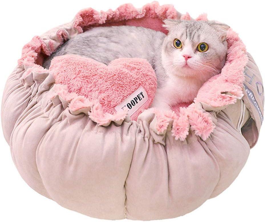 YunNasi - Cesto para Gato o Gato con cojín extraíble, 2 en 1, diseño de Flores: Amazon.es: Productos para mascotas