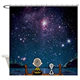 CafePress - Snoopy Space - Decorative Fabric Shower Curtain