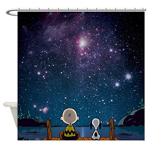 CafePress - Snoopy Space - Decorative Fabric Shower Curtain (69