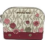 MICHAEL Michael Kors Women's EMMY Travel Pouch Make up Case Bag (Vanilla)