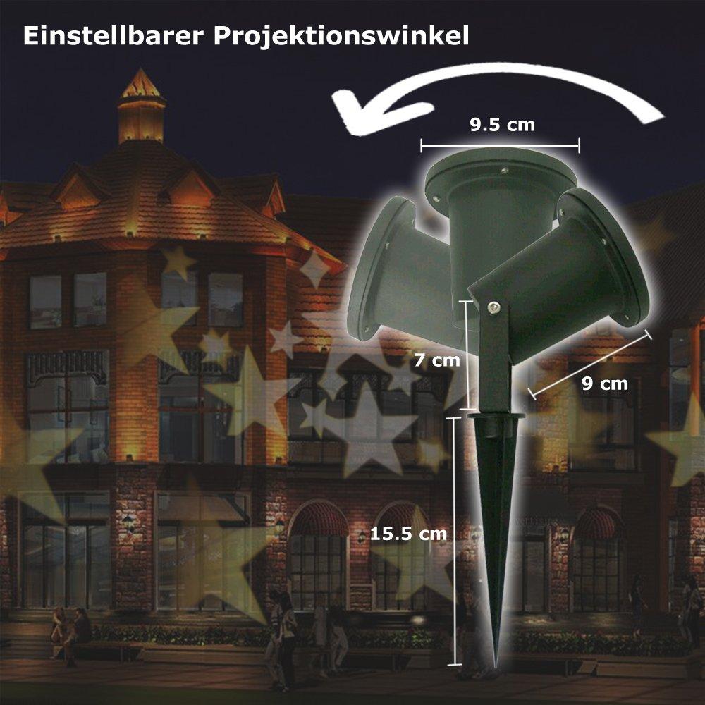 GAXmi LED Beleuchtung Weihnachten Landschaft Scheinwerfer Fee ...