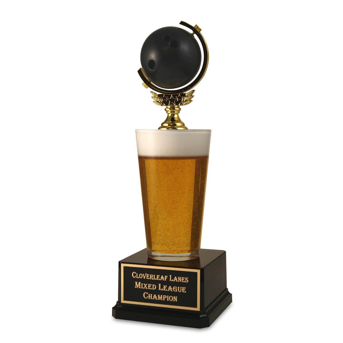 ボーリングボールビールTrophy – Funny Bowling、ボーリング賞、ボーリングピン賞by Far Out Awards B07BV5LJQ2