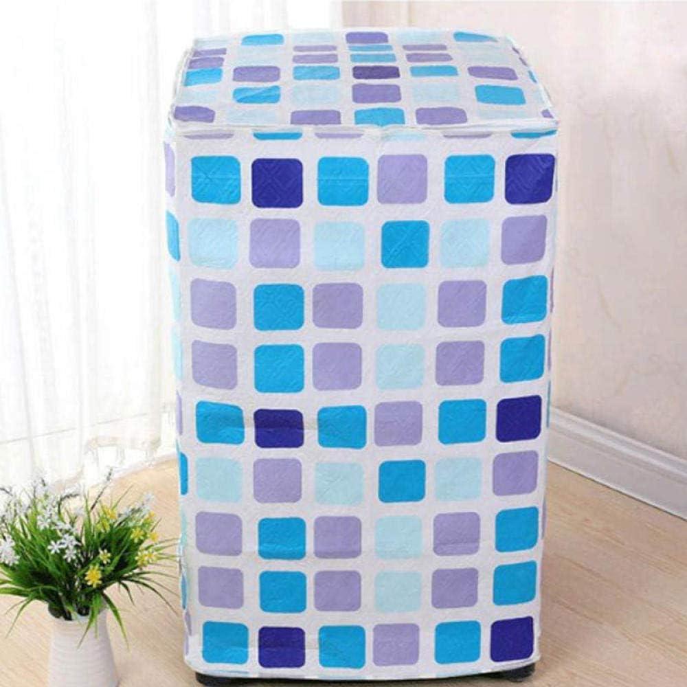 Lavadora, funda impermeable, plaid azul, arandela automática de rodillo para lavadora y secadora, tapa antipolvo, impermeable, resistente al sol, 60 x 60 x 85 cm