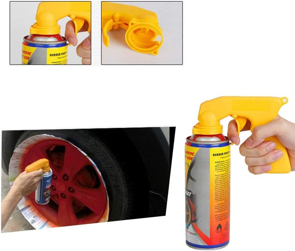 Flushzing Peinture Vaporisateur Adaptateur en a/érosol a/érosol poign/ée de pulv/érisation poign/ée Pleine G/âchette Entretien de Voiture Accessoires