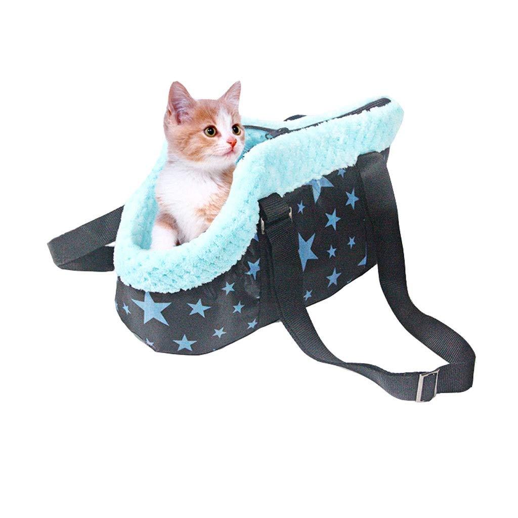 A Medium A Medium Guofangfang Pet Hand Bag, Winter Warm Small and Medium-sized Dog Removable Washable Universal Portable Travel Handcuffs Pet Cat Bag (color   A, Size   M)
