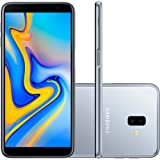 "Smartphone Samsung Galaxy J6 Plus Prata 32GB 3GB RAM Tela infinita de 6"" Dual Câmera 13MP 5MP"