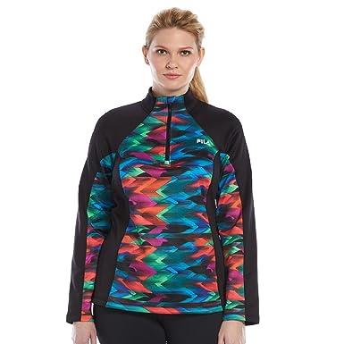 da4db024128 Amazon.com  FILA SPORT Women s Plus Size Printed Dash Pullover ...