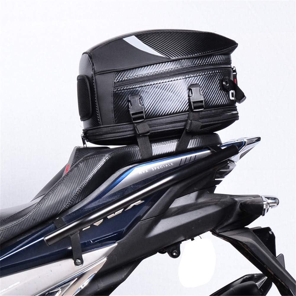 Wosawe Motorrad Hecktasche Multifunktions Pu Leder Fahrrad Gepäck Rücksitz Helm Tasche Mit Wasserdichtem Überzug Und Tragegurt Grau Auto