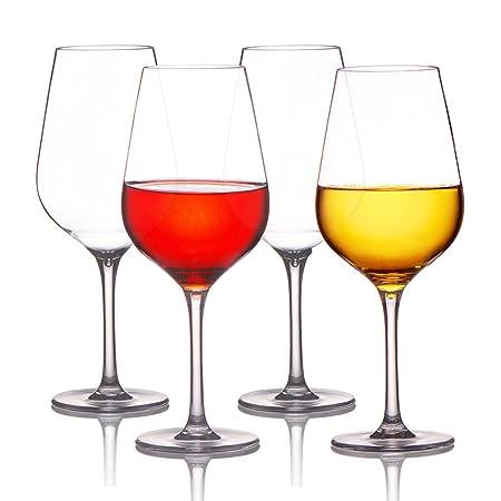 MICHLEY Unbreakable 100% Tritan-Plastic Wine Glasses