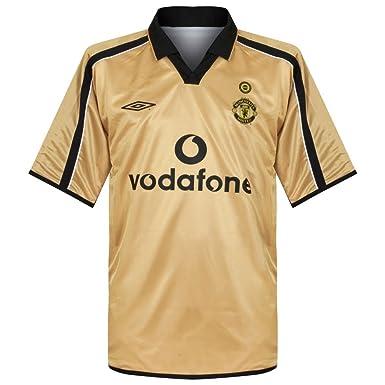 sale retailer 67e4c be349 01-02 Man Utd Centenary Shirt - Reversible - XL: Amazon.co ...
