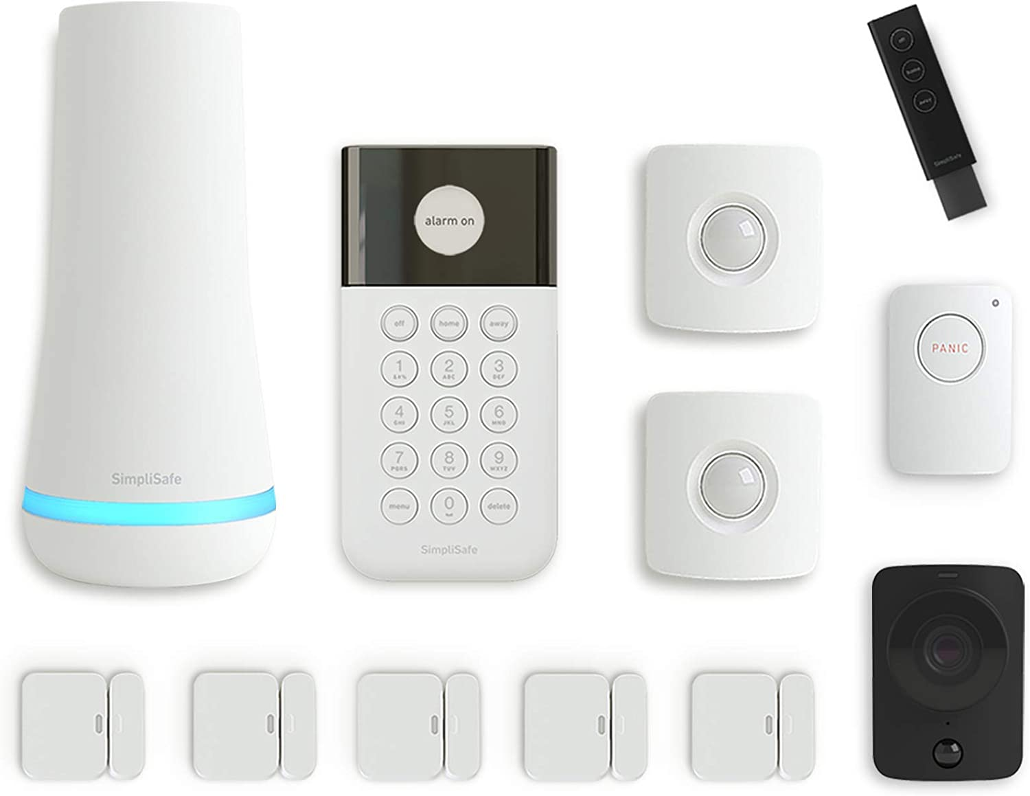 SimpliSafe 12 Piece Wireless Home Security System w/HD Camera - Optional 24/7 Professional Monitoring - No Contract