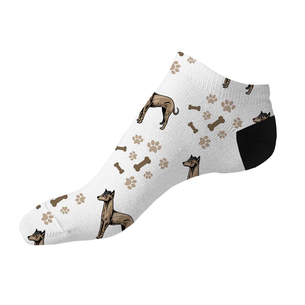 Peruvian Hairless dog Breed Pattern #2 Men-Women Adult Ankle Socks