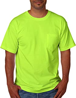 product image for Bayside Mens USA-Made Short Sleeve T-Shirt 5070 - Large - L Green
