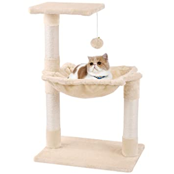 MC Star Árbol para Gato con Rascador Cama Bolas de Juego Arañazo Plataforma Sisal Natural 70cm, Beige: Amazon.es: Productos para mascotas