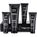 Tiege Hanley Men's Skin Care System - Level 1 | Mens Routine Product Set: Face Wash, Morning Moisturizer, Exfoliating…