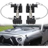 Sukemichi Hood Latches with Lock, Hood Locks Pins for Jeep Wrangler JK 2007-2017, Upgrade