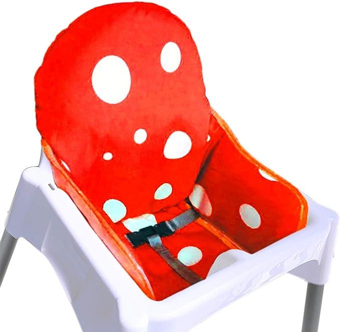 ZARPMA IKEA Coussin de chaise haute pour chaise haute pour bébé, plus épais, lavable et pliable, rembourrage pour chaise enfant