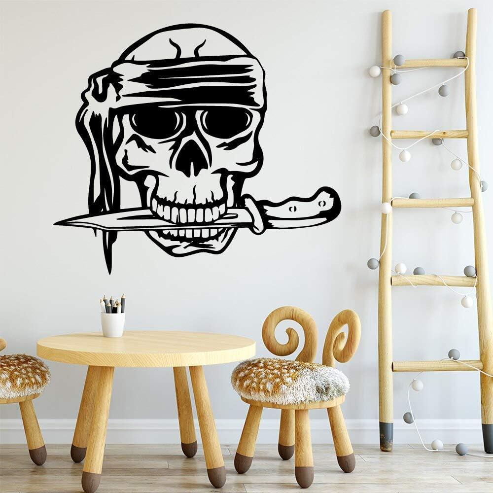 yaonuli Scary Pirate Head Living Room Decoration Pegatinas ambientales Pegatinas de Pared decorativas30X34cm