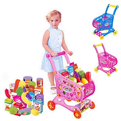 Juguete de Carrito de la Compra para Niños,GZQES,Carro de Compras de Supermercado