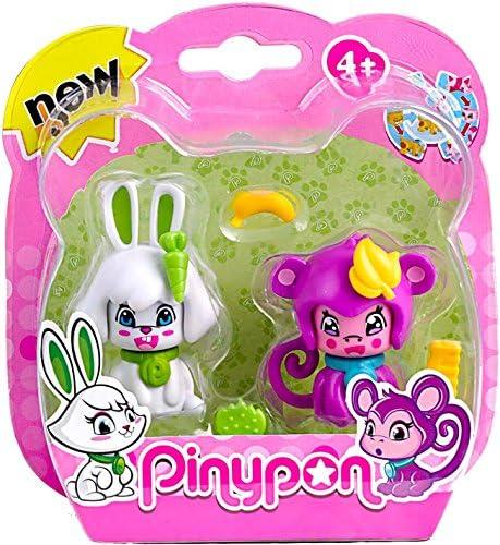 Pinypon Pack 2 mascotas, conejo y mono. (Famosa) (700012732): Amazon.es: Juguetes y juegos