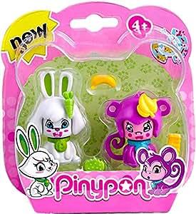 Pinypon Pack 2 mascotas, conejo y mono. (Famosa) (700012732)