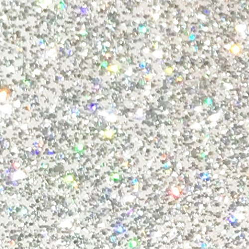 Holographic Glitter Adhesive Vinyl 12 by 15 FT Roll - for Cricut, Silhouette Cameo, Craft Cutters, and Die Cutters by StyleTech -Turner Moore (Holographic Glitter)