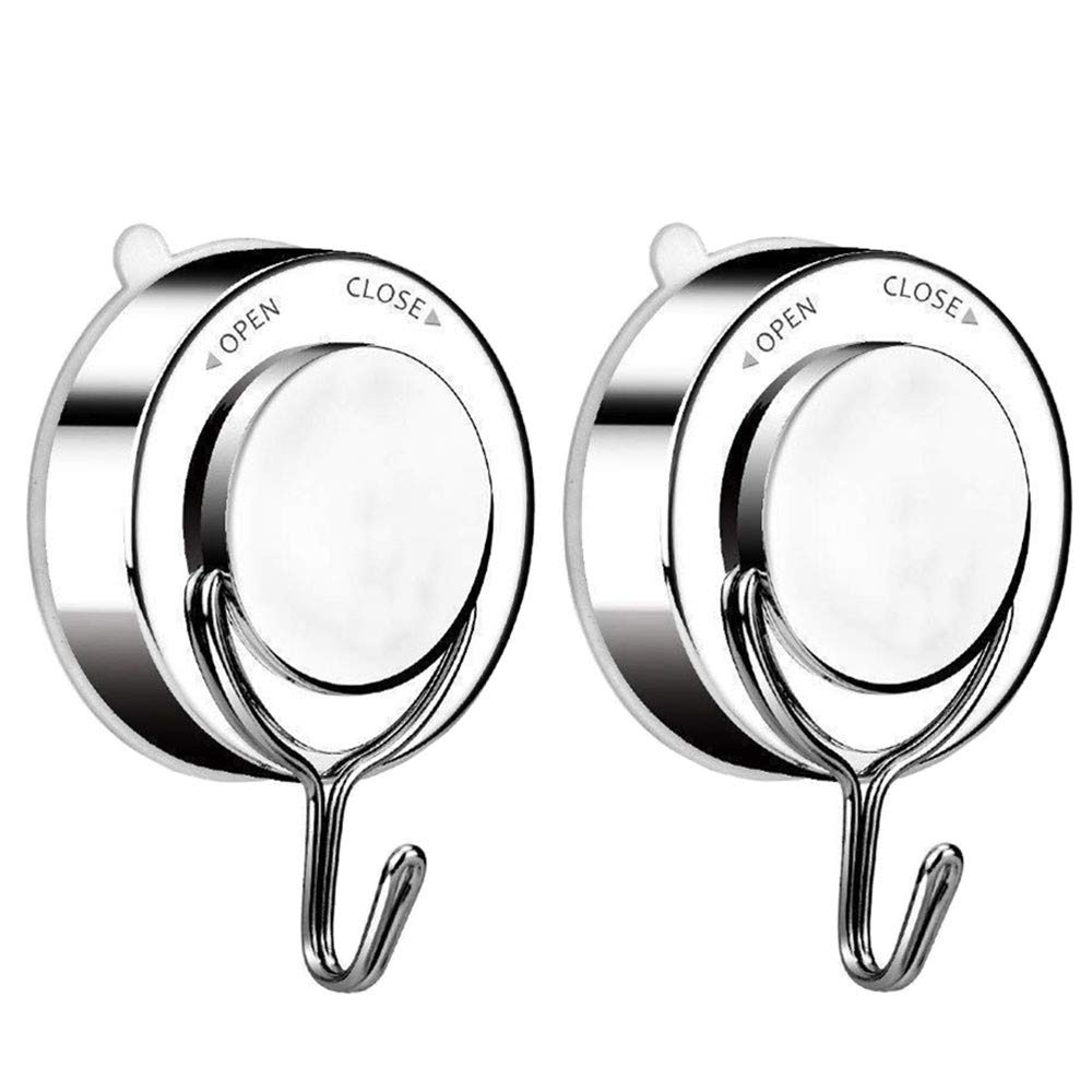 Powerful Vacuum Suction Cup Hook Holder Tissue Organizer for Towels Bathrobes and for Bathroom and Kitchen Towel Holderglass, metal and mirror(2 pack)