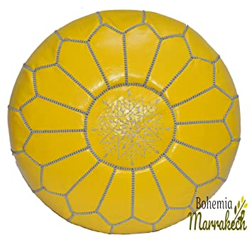 Amazon.com: Bohemiamarrakech – Puf de piel marroquí ...