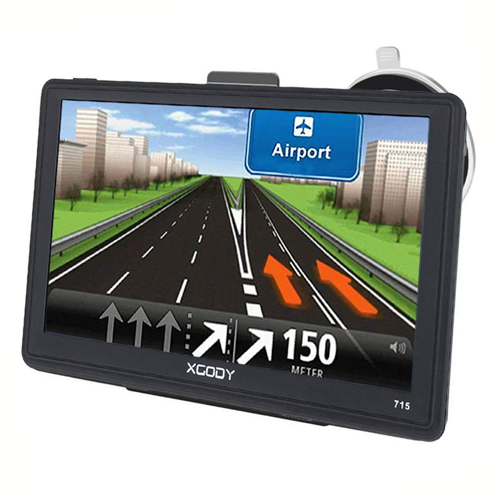 Xgody 715BT Portable GPS Navigation for Car 7 Inch NAV System Navigator with Sun Shade Support Lifetime 2D/3D Maps Updates