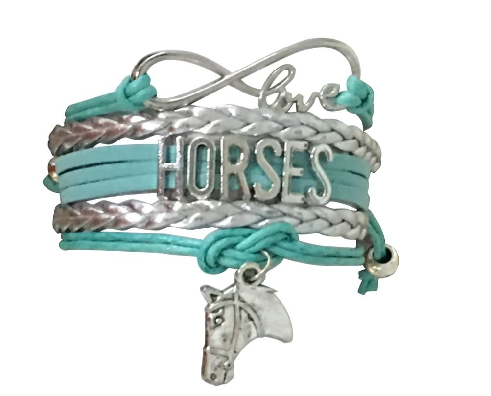 Infinity Collection Horse Charm Bracelet Horse Lovers Equestrian Jewelry for Her