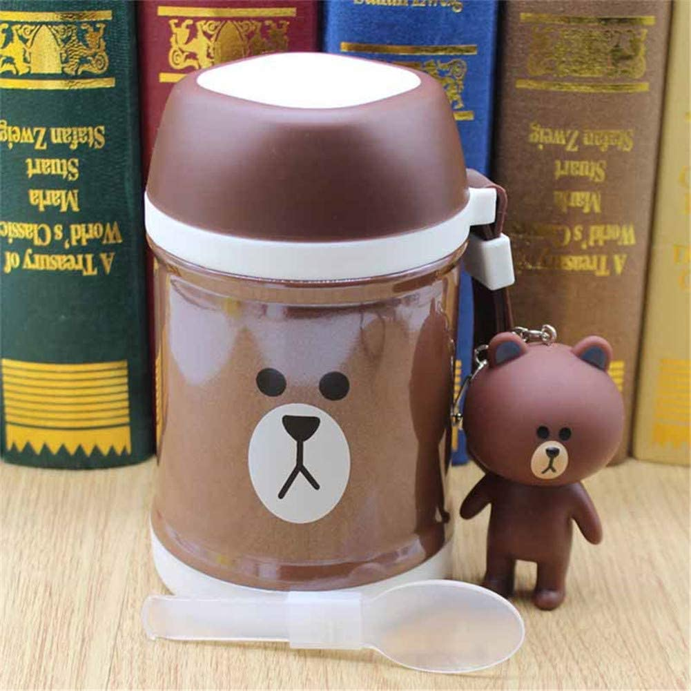 KTSWP Ladies Braised Beaker Children Cartoon Boring Pot Portable Soup Pot 400ML Vacuum Flask Thermoses Cup Portable Vacuum Cup