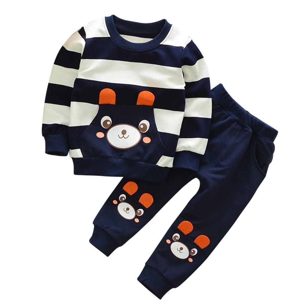 ESHOO Kids Children's Autumn Spring Long Sleeve Top + Long Pants 2Pcs Set Clothing