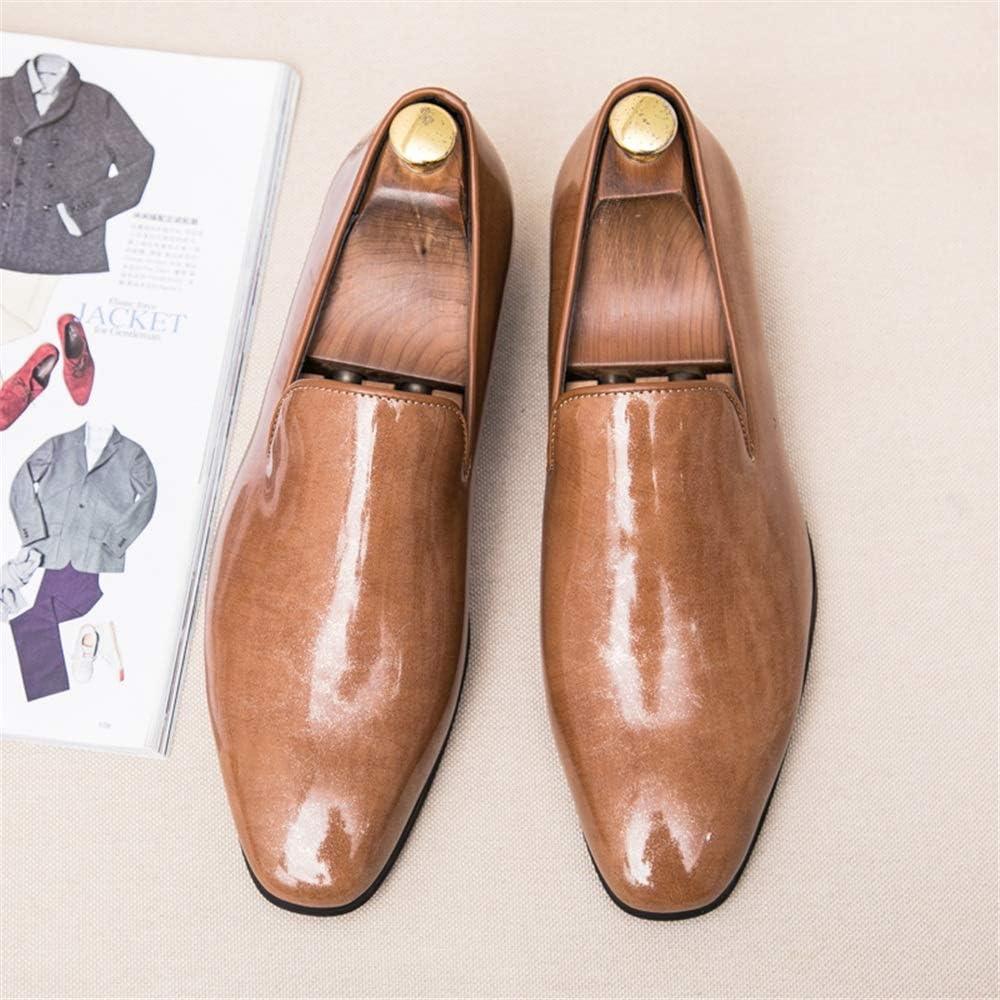 Color : Jaune, Taille : 38 EU Sunny/&Baby Chaussures pour Hommes Oxford Casual Simple Classique Britannique de la Mode en Cuir Verni R/ésistant /à labrasion