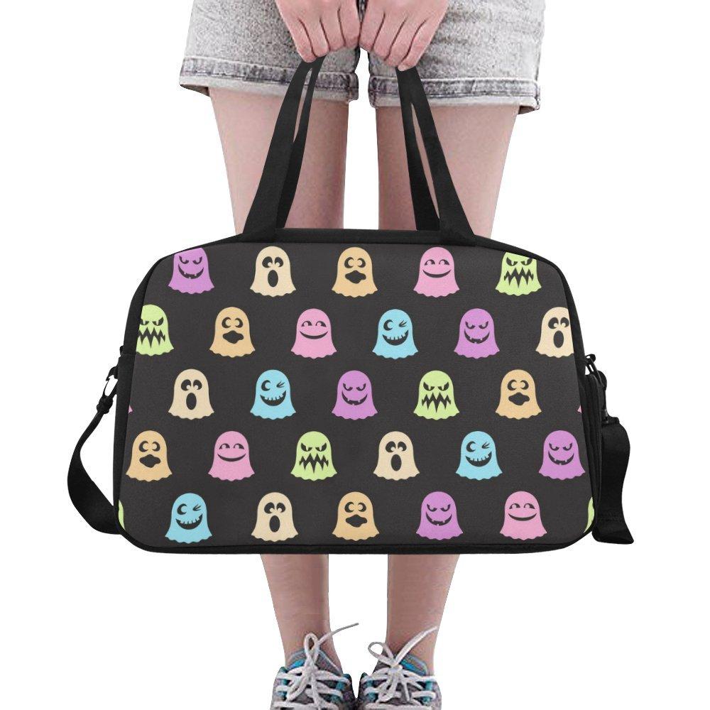 Unique Design Duffel Bag A Cute Little Ghosts Travel Tote Bag Handbag Crossbody Luggage
