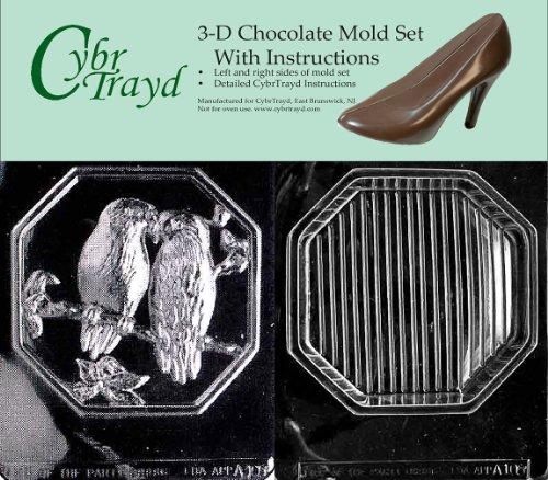 - Cybrtrayd A105AB Bird Pour Box Chocolate Candy Mold Bundle with 2 Molds and Exclusive Cybrtrayd Copyrighted 3D Chocolate Molding Instructions