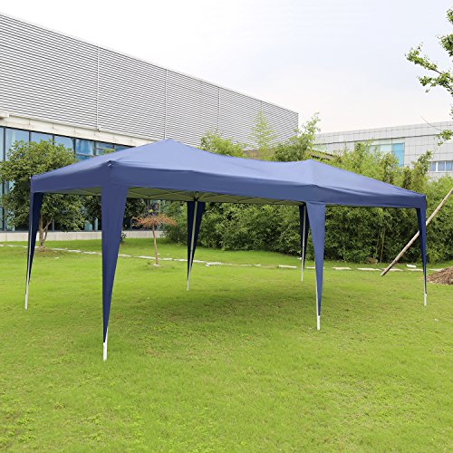 Kinbor 10'x20' Canopy Wedding Party Tent Heavy Duty Outdoor Gazebo White/Blue (Blue)