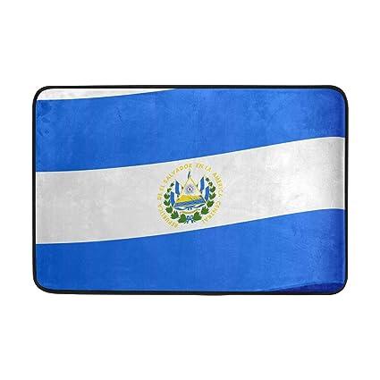 MALPLENA Alfombrillas Bandera de Salvador para el Suelo, para la Entrada de la Alfombrilla,