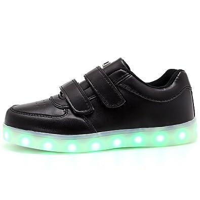 a897e97358d0 Hanglin Trade Light Up Trainers Kids Girls Boys Walking Shoes Low Top  Sneakers  Black 1
