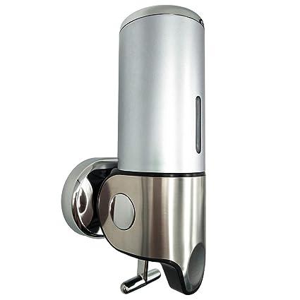 VINN DUNN Elsa - Dispensador de jabón de Pared, Plata, dispensador de jabón líquido