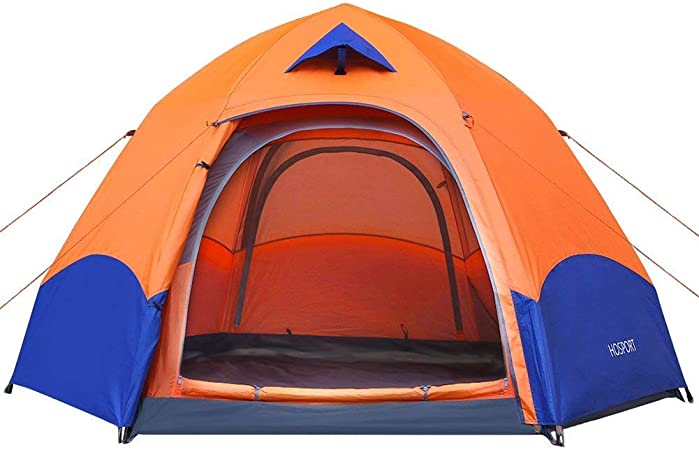 Tienda de Campaña 3 Personas HOSPORT Instantáneas Tiendas Camping Pop Up Automático Impermeable Tiendas Para Niños Familia