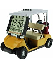 Crestgolf Mini Despertador de Carrito de Golf, Carrito de Golf en Miniatura
