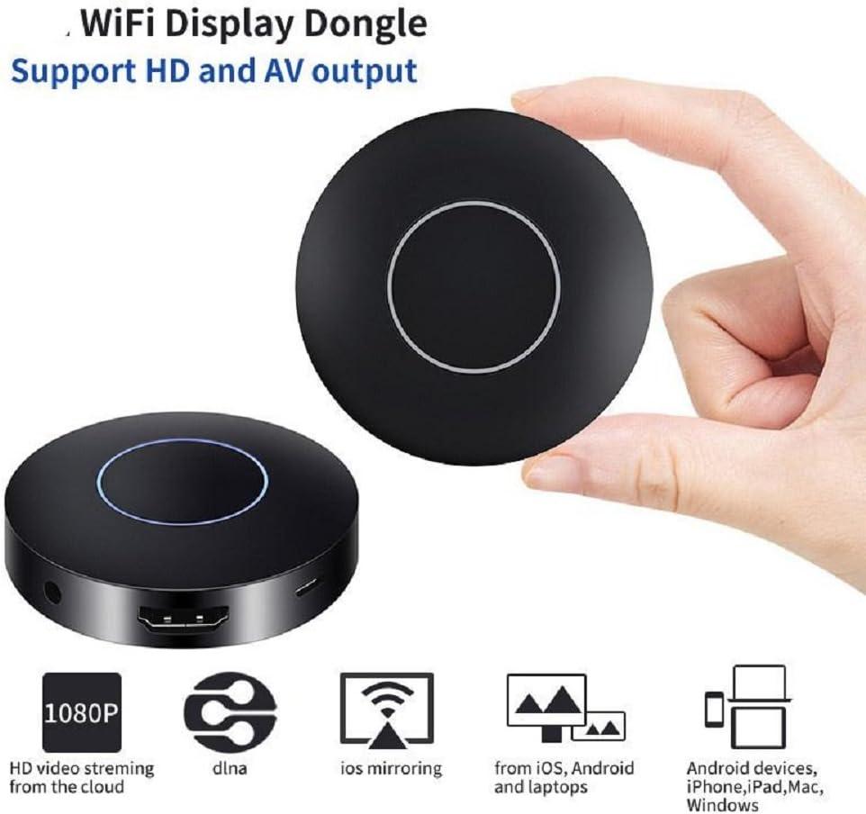 Hongfei Q1 WiFi Display Dongle, 1080P HDMI AV adaptador de ...