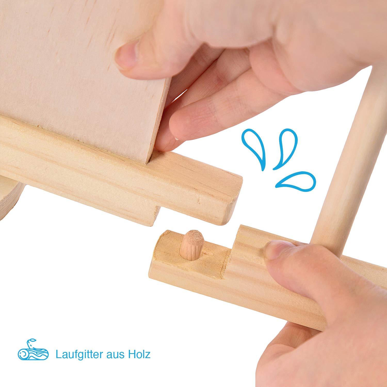 Klappbar Absperrgitter f/ür drinnen Kinderzaun XXL Eckig Mobiler Laufstall Gehschule f/ür Garten Aus Holz Faltbar Baby Laufgitter Gro/ß